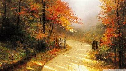 Fall Wallpapers Autumn Thomas Kinkade