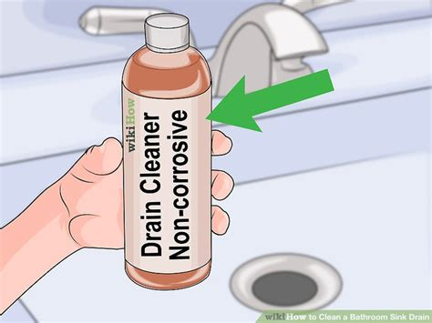 How To Clean Your Kitchen Sink Drain by 3 Ways To Clean A Bathroom Sink Drain Wikihow