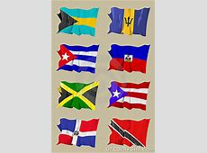 Eight Caribbean Flags Royalty Free Stock Image Image