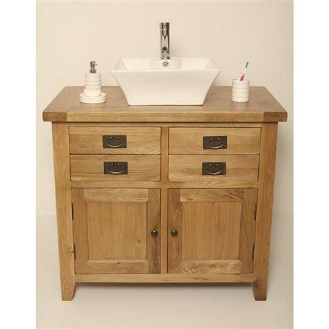 Rustic Bathroom Vanity Units by Free Standing Valencia Rustic Oak Vanity Unit Click Oak
