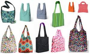52 and colorful reusable shopping bags myria