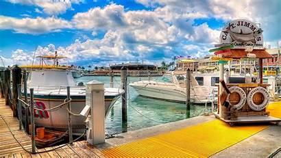 Marina Harbor Colorful Wallpapers Boats Background Desktop