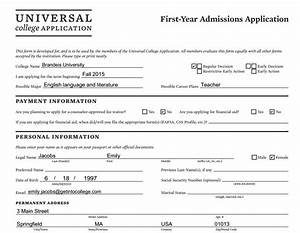 6 best images of common app printable common college With college application example