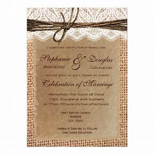 rustic paper burlap lace print wedding invitations 45quot x With paper to print wedding invitations on