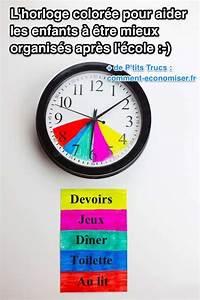 Les 4 Temps Horaires : emploi du temps apr s l 39 cole l 39 horloge color e pour ~ Dailycaller-alerts.com Idées de Décoration