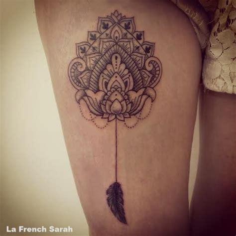 mandala cuisse mandala tattoo  thigh mandala avec
