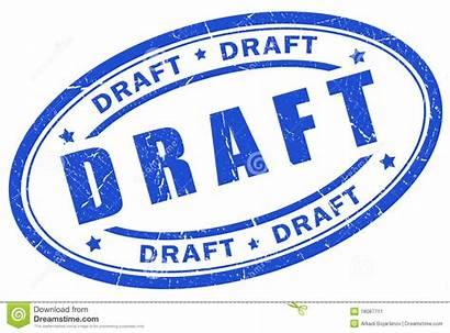 Draft Stamp Clip Clipart Illustration Sample Vector