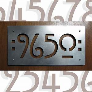 custom mission style house numbers in stainless steel With custom house letters