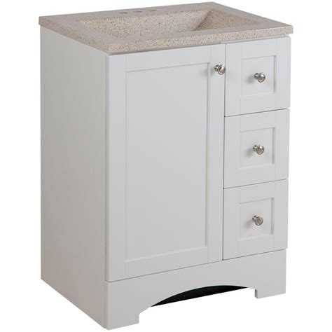 glacier bay bathroom cabinets glacier bay lancaster 24 in vanity in white with