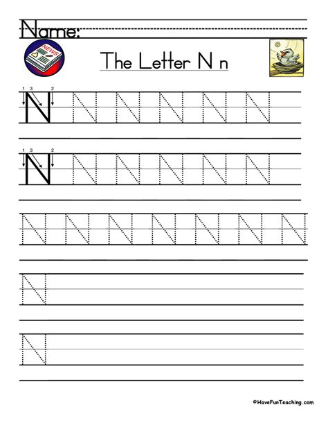 handwriting worksheets letter