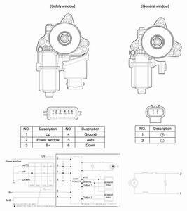 Hyundai Veloster  Power Window Motor  Schematic Diagrams - Power Windows