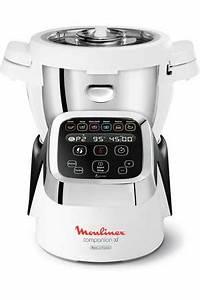 Robot Cuiseur Pas Cher : robot cuiseur moulinex companion xl noir blanc hf805810 ~ Premium-room.com Idées de Décoration