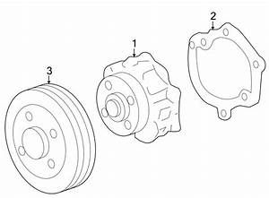 Buick Lacrosse Engine Water Pump Pulley  Liter  Twin