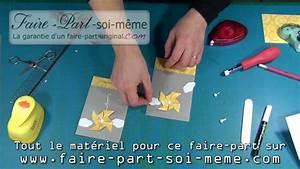 Creer Ses Faire Part De Naissance Soi Meme : faire part invitation communion moulin vent youtube ~ Dode.kayakingforconservation.com Idées de Décoration
