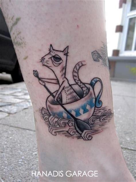 alice  wonderland teacup tattoos