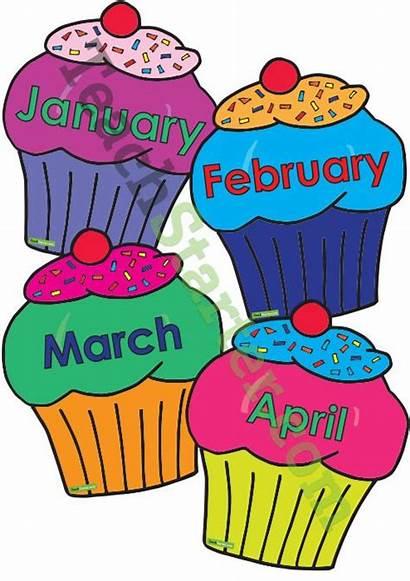 Birthday Classroom Charts Clipart Chart Decoration Cupcake