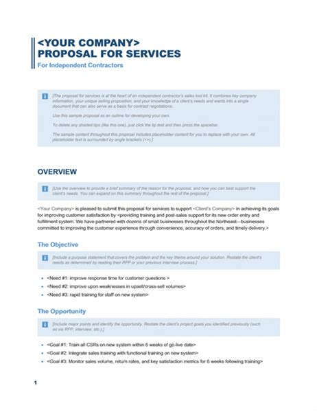 Tv Hanging Service Proposal Template by Services Proposal Business Blue Design