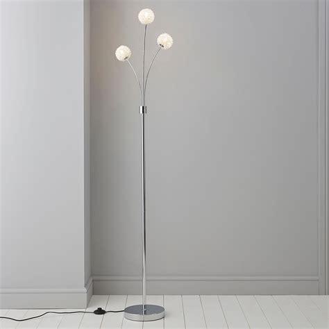 pallas silver chrome effect floor lamp departments diy