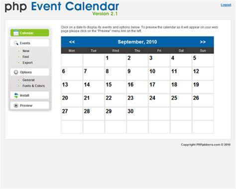 review php event calendar software