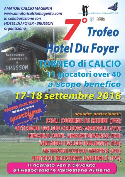 hotel du foyer brusson amatori calcio magenta