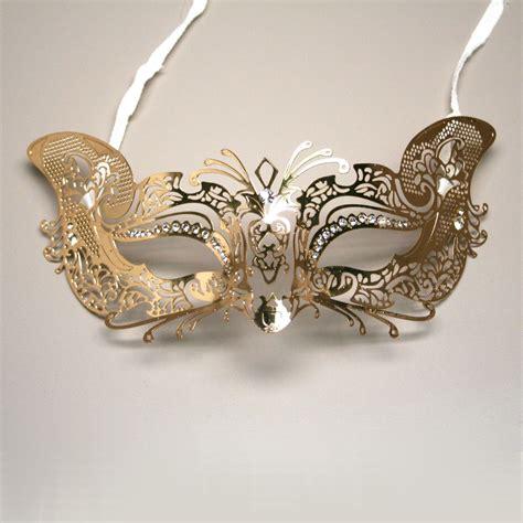 venetian cat mask gold metal venetian cat half mask