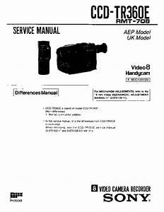 Sony Ccd-tr360e Service Manual