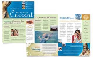 newsletter design catholic parish and school newsletter template design