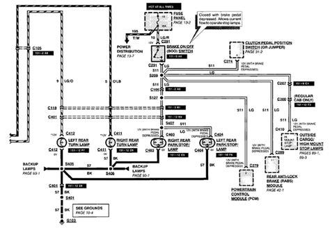 Ford Ranger Brake Light Wiring Diagram by 1994 Ranger Brake Lights Were Working Intermitantly Now