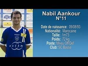Football Player Cv Template Nabil Aankour N 11 Sc Bastia Football Player Cv