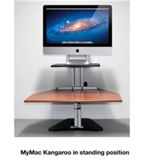 Kangaroo Standing Desk Imac by Sit Stand Workstations Stand At Your Desk With Your Imac