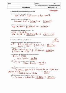 Geschwindigkeit Berechnen Mathe : ab loesungen ~ Themetempest.com Abrechnung