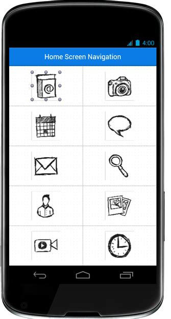 mobile user interface design home screen navigation