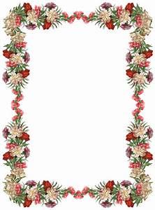 Free digital vintage flower frame and border ...