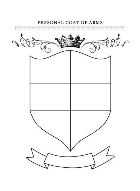printable coat  arms template coat  arms art
