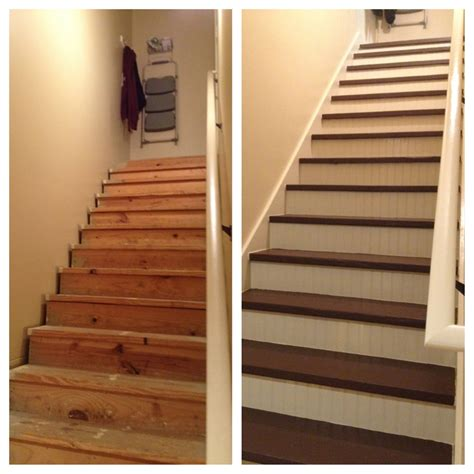 completed  refinishing   staircase