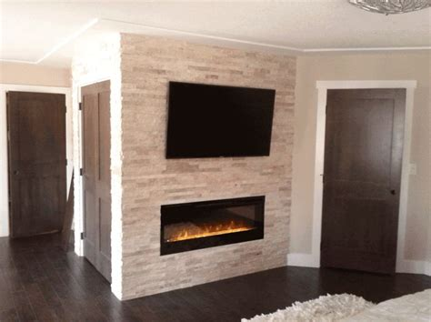 Electrical Home Design Ideas by Electric Fireplace And Tv Brick Wall Best Fireplace