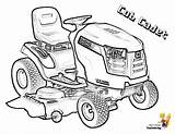 Tractor Coloring Pages Cadet Cub Lawn Print Lawnmower Snowblower Lt1050 Garden Template Boys Tractors sketch template
