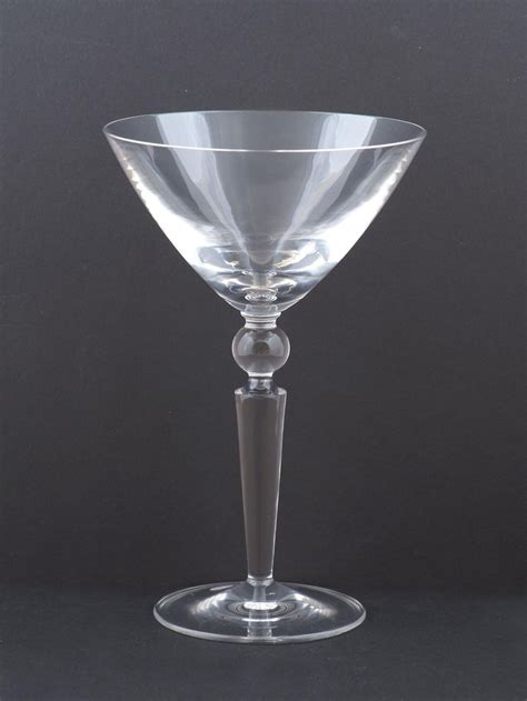 Steuben Barware by Steuben Counterpoint Martini Glass At