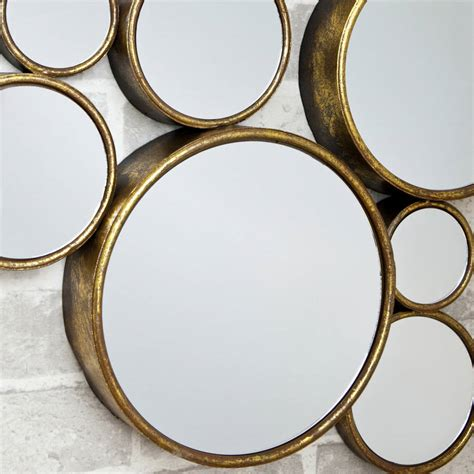 narrow hallway 39 funky 39 circles mirror by decorative mirrors
