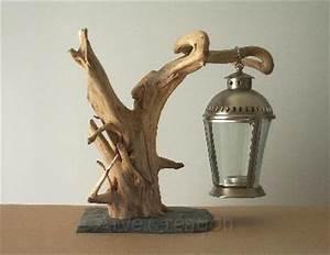 Meuble En Bois Flotté : arve cr ation galets et bois flott support lanterne ~ Dailycaller-alerts.com Idées de Décoration