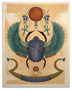 Egyptian Winged Scarab Art Print by TigerHouseArt on Etsy