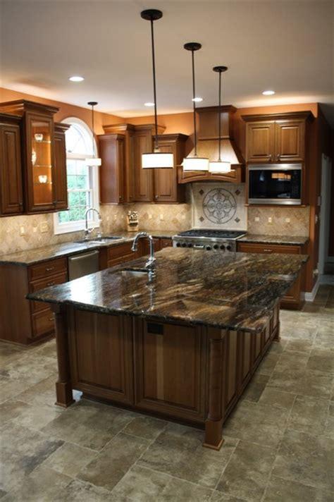 oversized kitchen island traditional kitchen