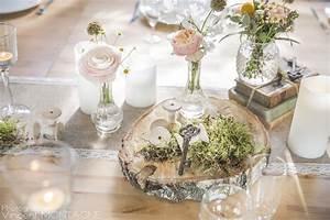 Centre De Table Champetre : rondin de bois centre de table id al pour un mariage ~ Melissatoandfro.com Idées de Décoration