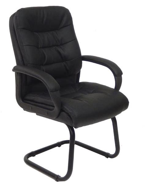 plushtuft leather reception chair