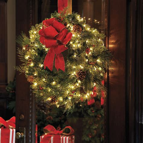 classic collection outdoor window christmas wreath with bow christmas decor traditional
