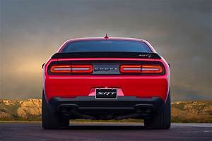 2017 Dodge Challenger SRT Hellcat rear view - Motor Trend