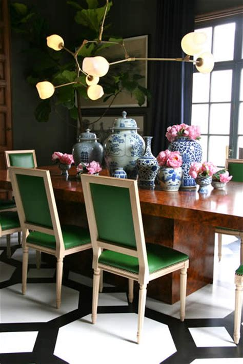 emerald green chairs contemporary dining room grant k