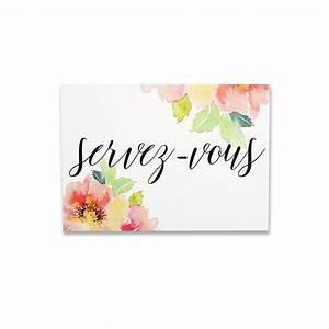 pancarte aquarelle fleurie servez vous petit modele With affiche chambre bébé avec aquarelle fleurs anniversaire