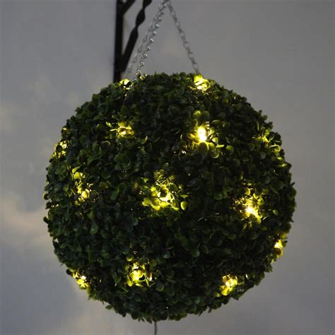 artificial topiary balls with lights home design