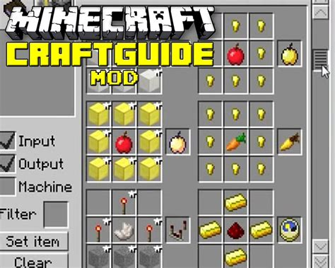 bureau minecraft craftguide mod for minecraft 1 7 10 1 7 2 1 6 4